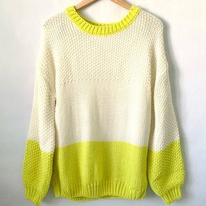 Elodie colorblock chunky knit sweater size L